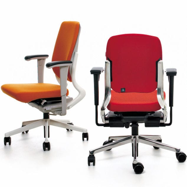 contemporary office armchair fabric on casters swivel ahrend