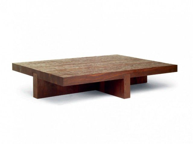 Beautiful Contemporary Coffee Table / Wooden / Rectangular   LOW TIDE By Roderick Vos