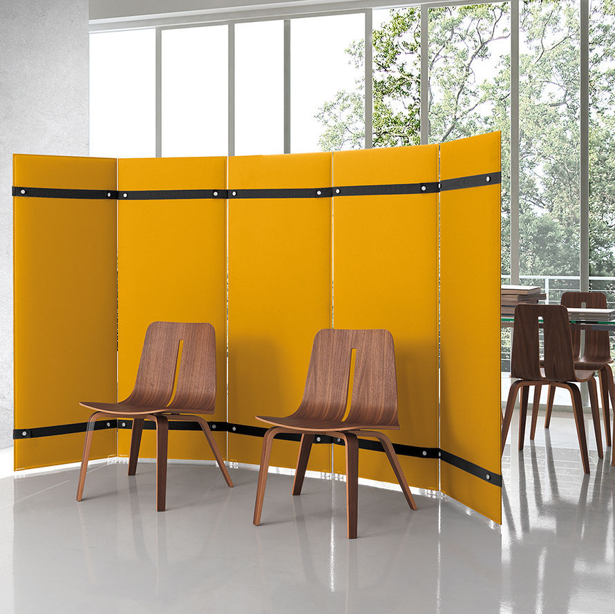 Interior acoustic panel / fabric / self-supporting / for public ...