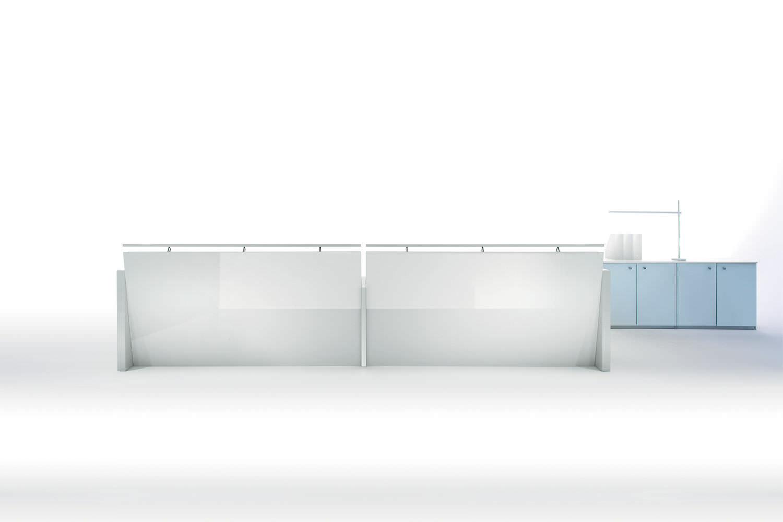 Glass Reception Desk Beauty Touch Manerba