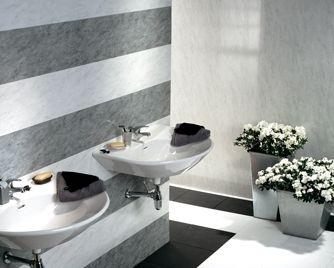 pvc panel / laminate / wall-mounted / matte - dumapan® - ulliano ... - Mur Salle De Bain Pvc