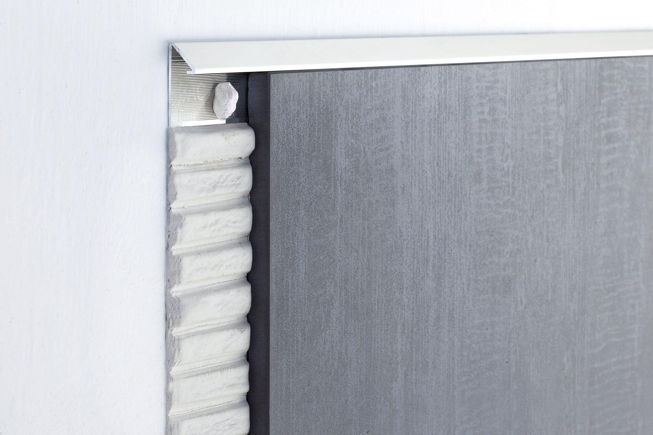 Aluminum edge trim / outside corner / for tiles - NOVOBISEL® - EMAC ...