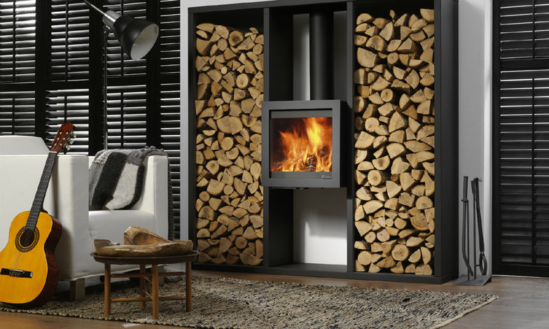 ... Wood heating stove / contemporary / metal / wall-mounted BORA DIK GEURTS - Wood Heating Stove / Contemporary / Metal / Wall-mounted - BORA