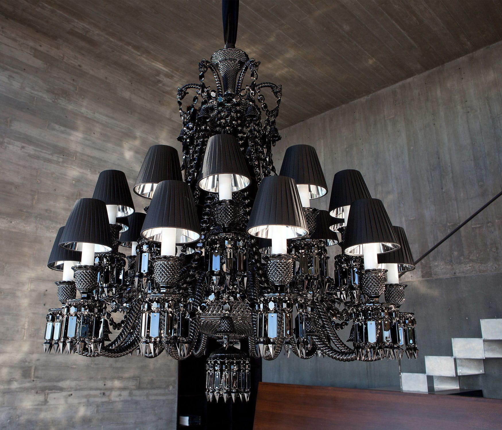 Contemporary chandelier crystal incandescent by philippe contemporary chandelier crystal incandescent by philippe starck zenith baccarat arubaitofo Images