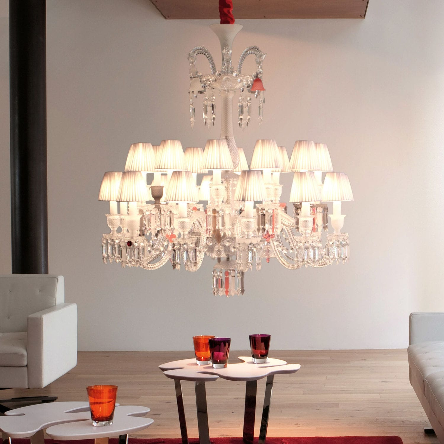 Contemporary Chandelier Crystal Incandescent By Philippe Starck Flou Je Te Vois