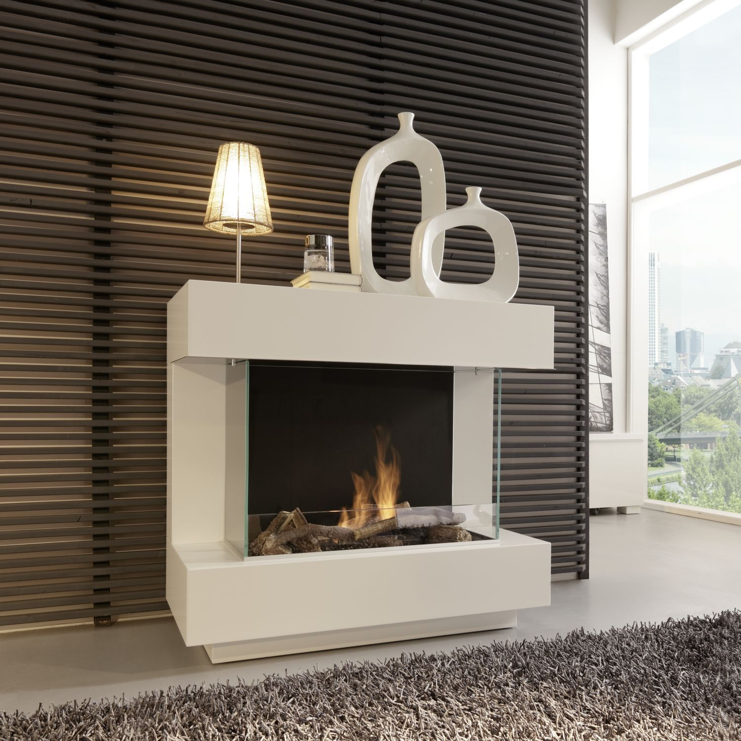 Bioethanol Fireplace / Contemporary / Open Hearth / Central   CONCEPT NR.4