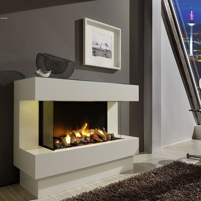 Electric fireplace insert / 1-sided / flame effect - CONCEPT NR.4 L - Electric Fireplace Insert / 1-sided / Flame Effect - CONCEPT NR.4
