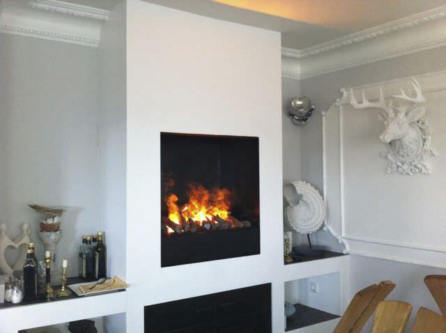 Electric fireplace insert / central   elektrofeuer modul l   kamin ...