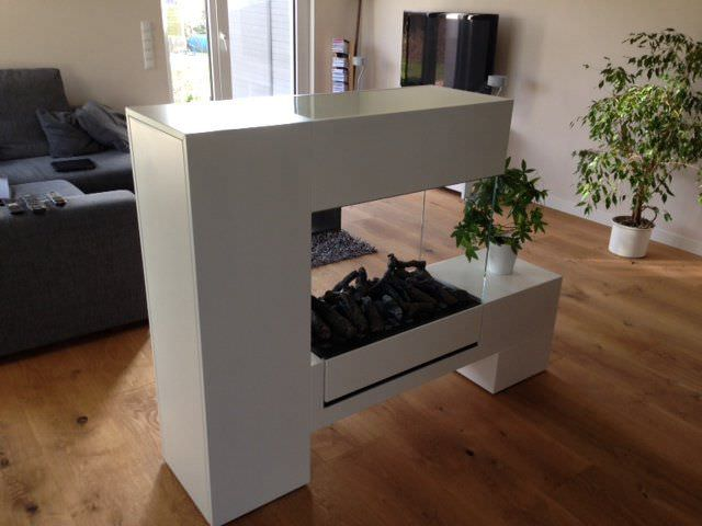 Electric Fireplace / Contemporary / Closed Hearth / Free Standing ...