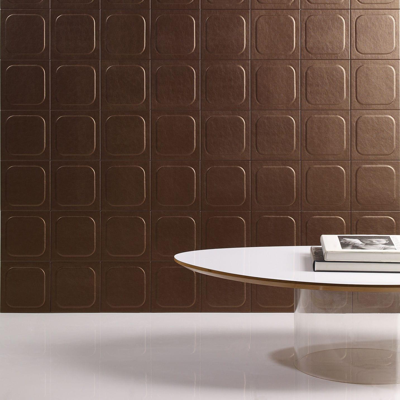 Indoor tile / wall / leather / matte - POP - Cuir au Carré