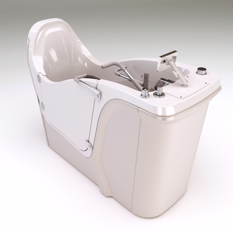 Free-standing bathtub / resin / deep / handicapped - WATER°STEP ...