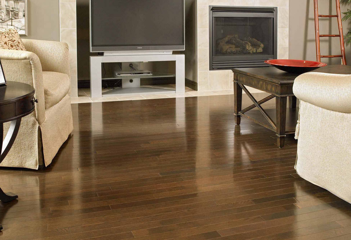 engineered parquet flooring / solid / nailed / glued - red oak