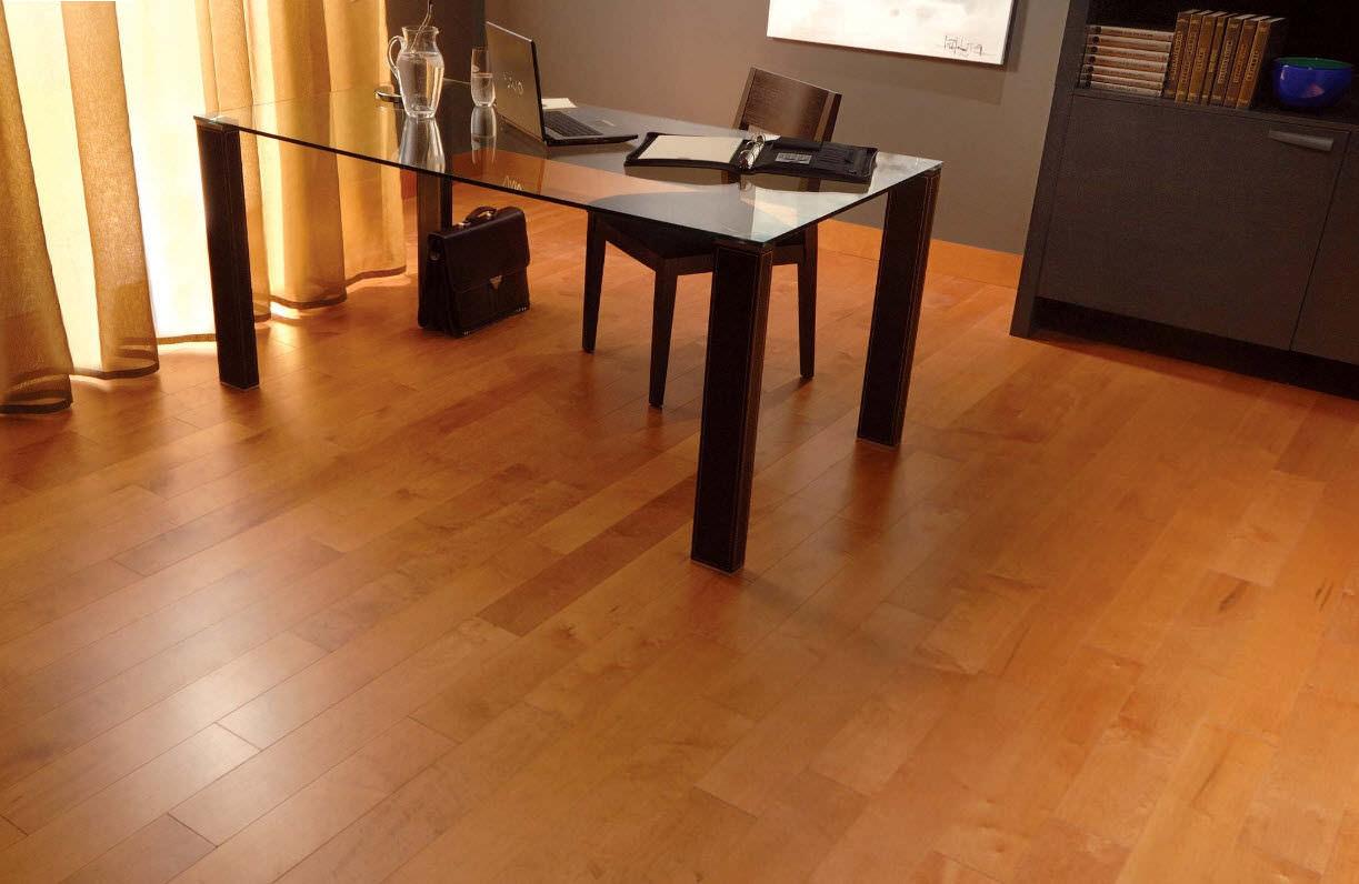 solid parquet flooring / engineered / glued / nailed - maple
