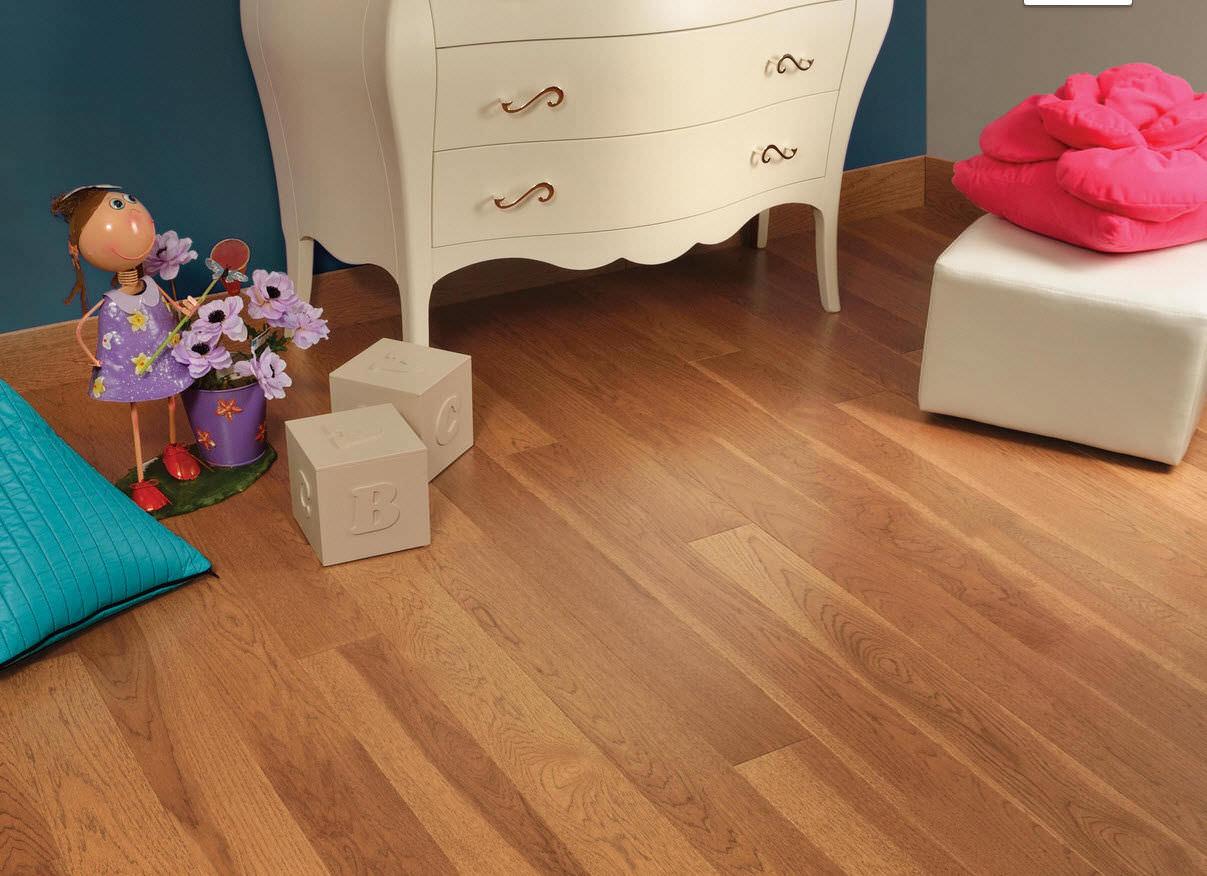 engineered parquet flooring / glued / hardwood / semi-gloss