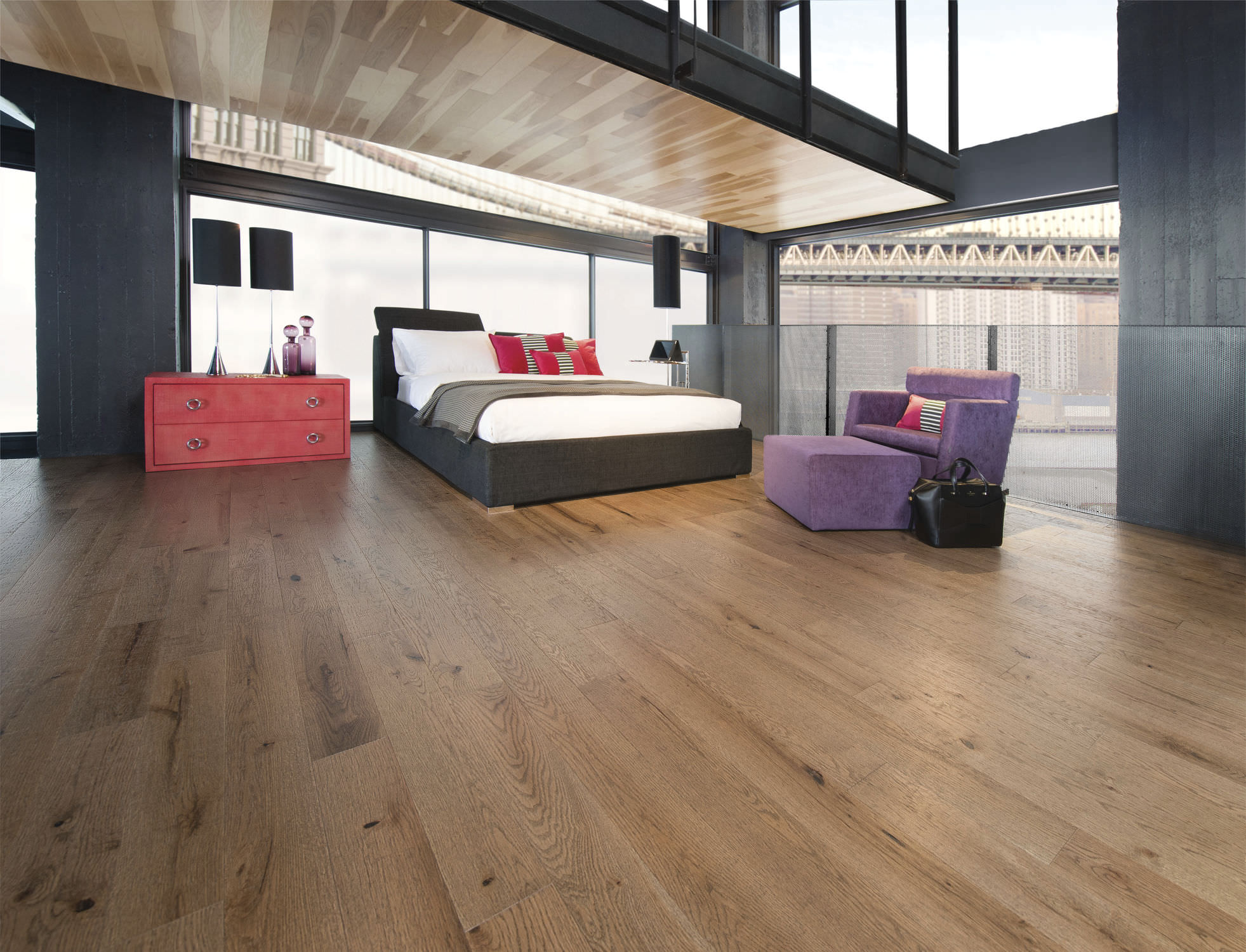 solid parquet flooring / engineered / nailed / glued - old red oak
