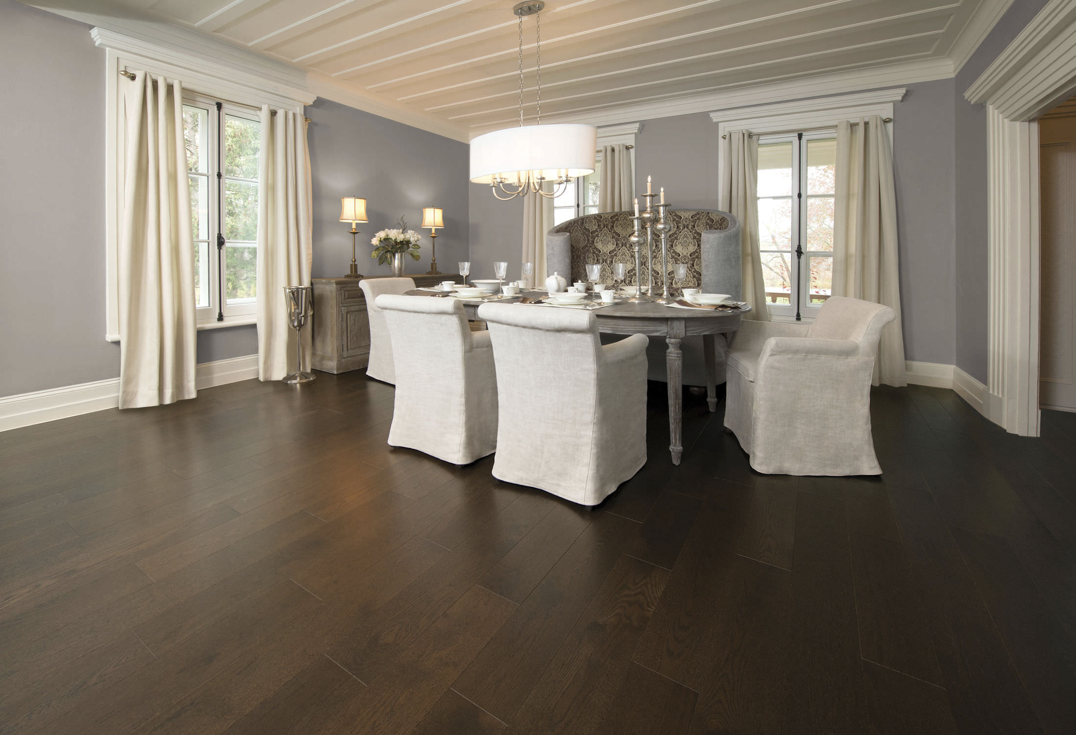 solid parquet flooring / engineered / nailed / glued - red oak