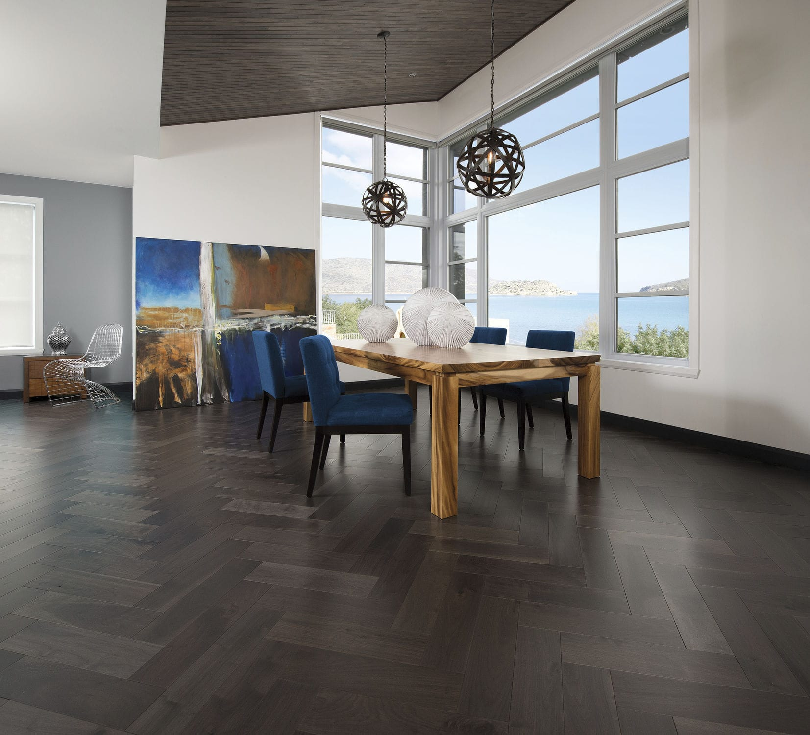 solid parquet flooring / engineered / glued / nailed - knotty