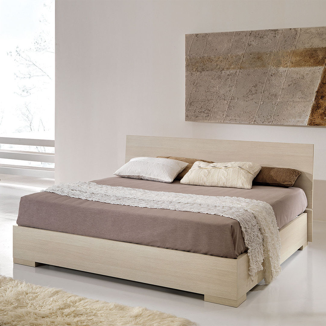 Double Bed Contemporary With Headboard Wooden FLY GIESSEGI - Lit double fly