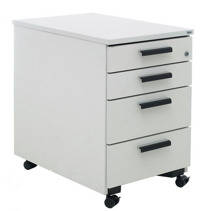 Laminate Office Unit / 4 Drawer / On Casters / Key Type SERIES[E