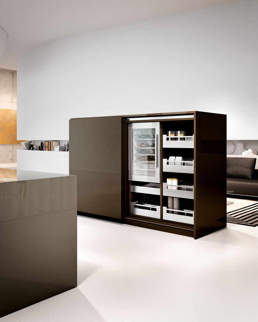 contemporary kitchen wooden island hidden arca lineaquattro