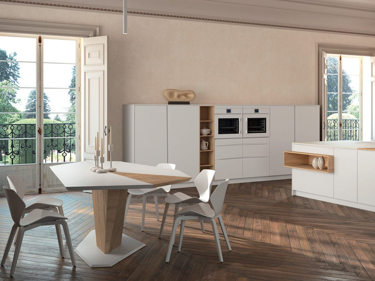Contemporary kitchen / wooden / island / lacquered - SIGNUM FLAG ...