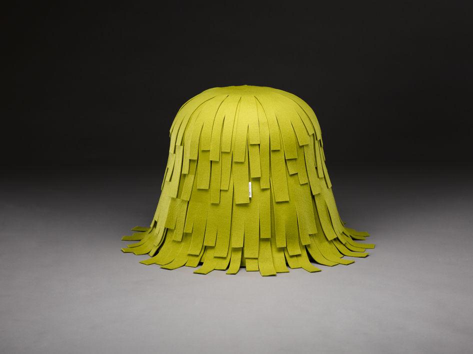 Original design pouf / leather - SHAGGY by Boris Klimek - mminterier