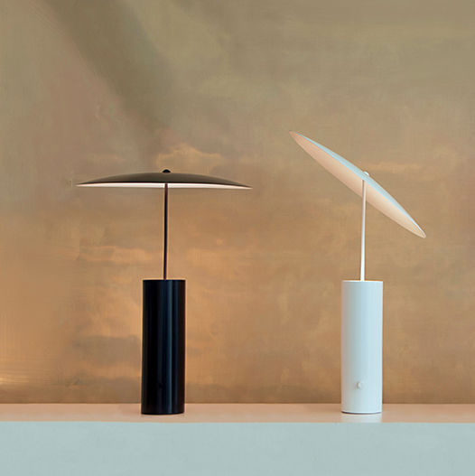 Table lamp / original design / steel / dimmable   PARASOL by Jonas