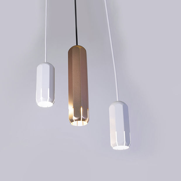 Pendant spotlight indoor led aluminum brixton by james bartlett