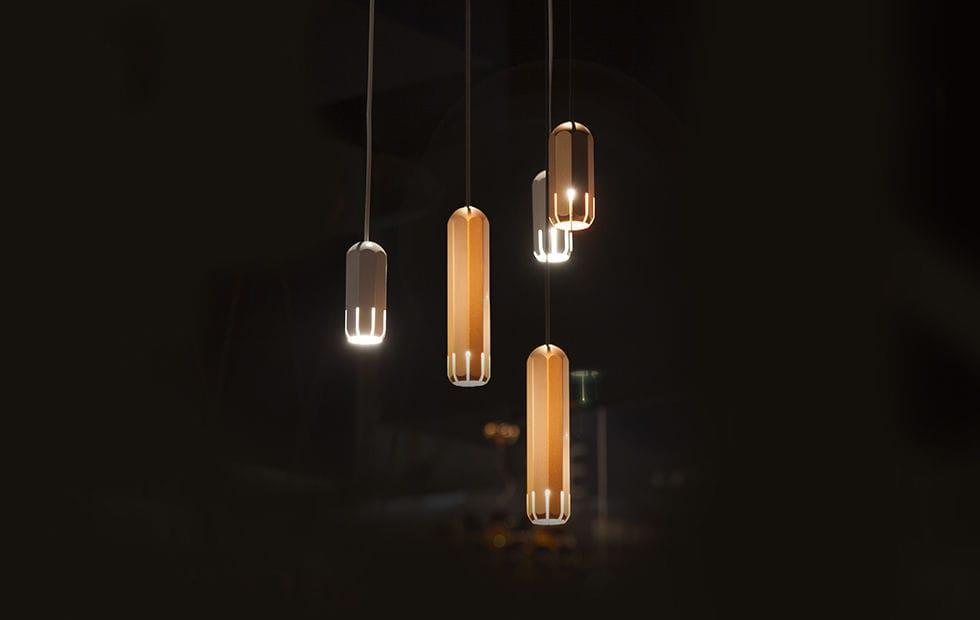 Pendant spotlight indoor led aluminum