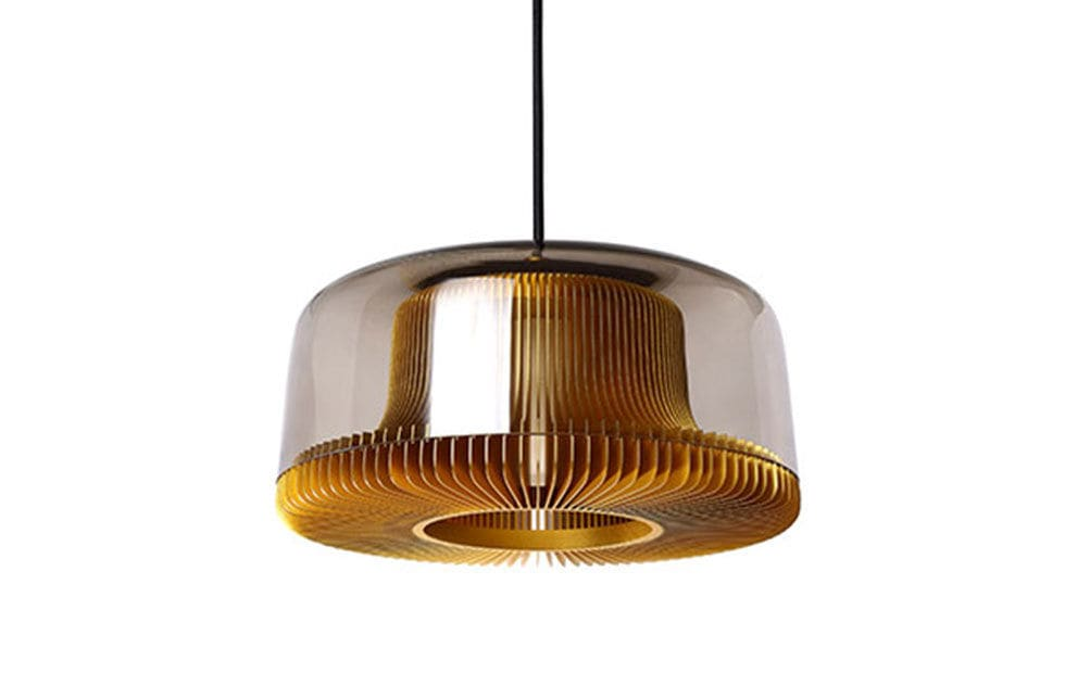 Pendant lamp contemporary aluminum blown glass dub by eoq innermost