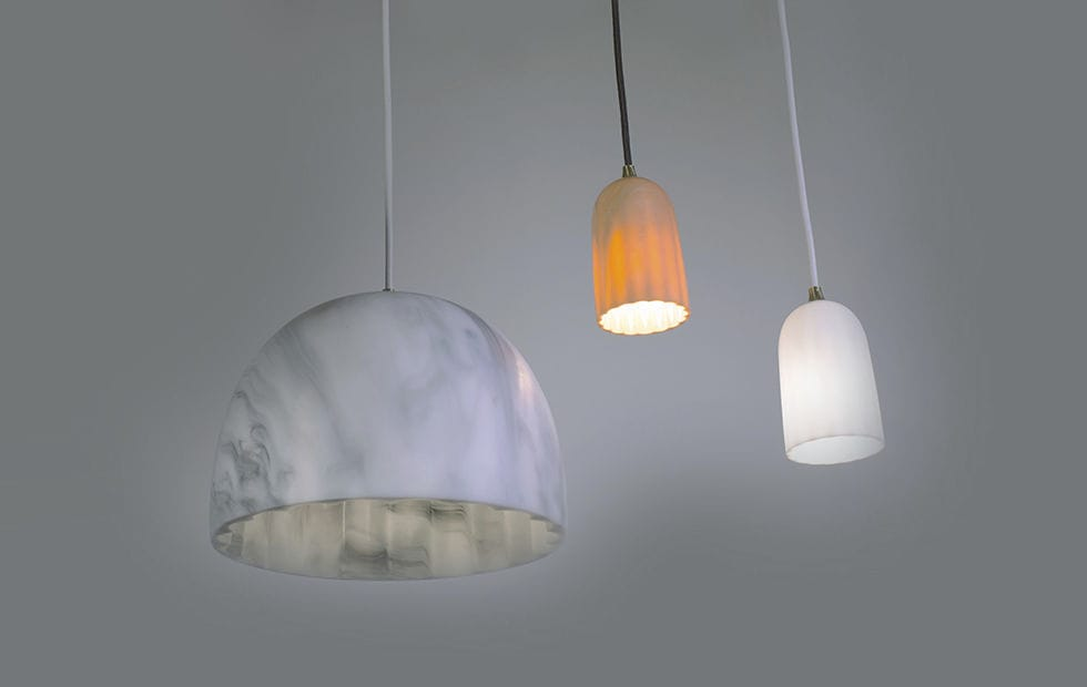 pendant lamp contemporary resin led doric by james bartlett