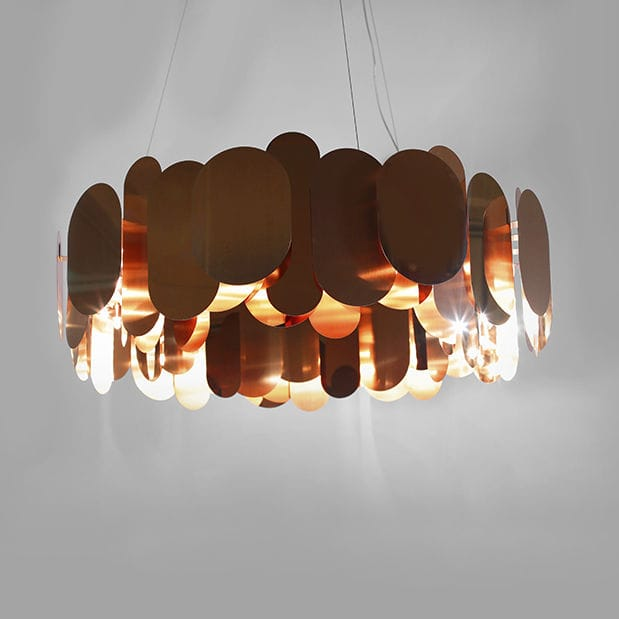 Pendant lamp contemporary stainless steel led panel by steve jones
