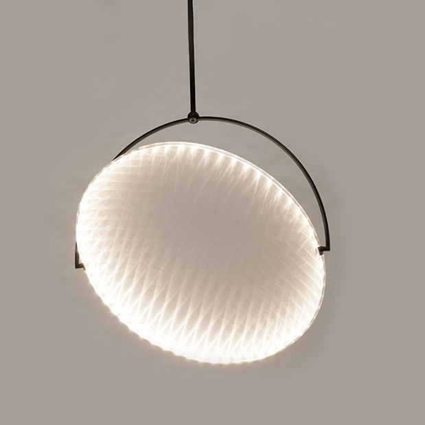 Pendant lamp contemporary steel polycarbonate kepler by cohda