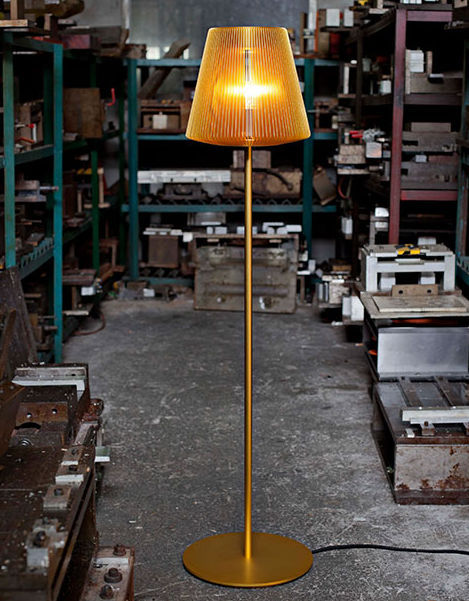 Floor standing lamp contemporary anodized aluminum led bramah by eoq