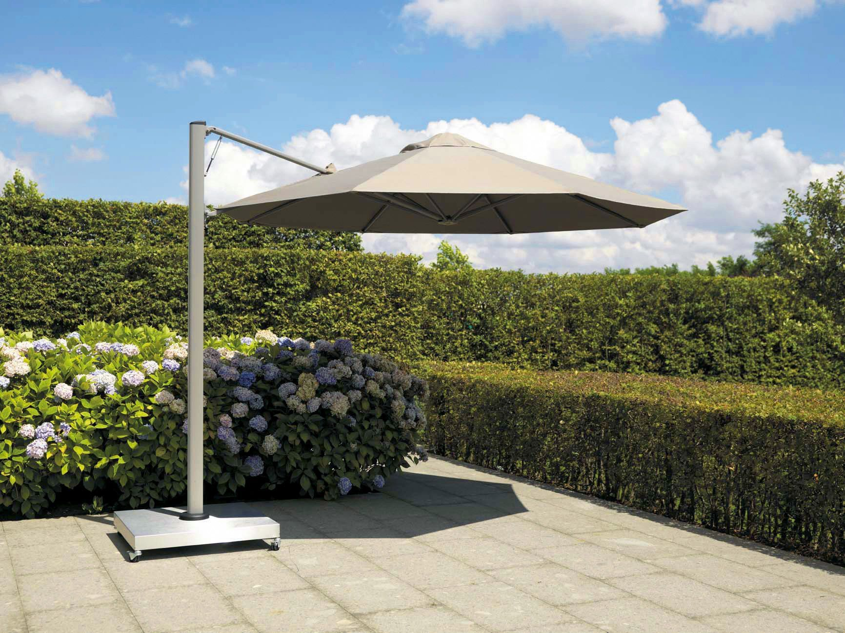 offset patio umbrella aluminum acrylic swiveling p7 prostor