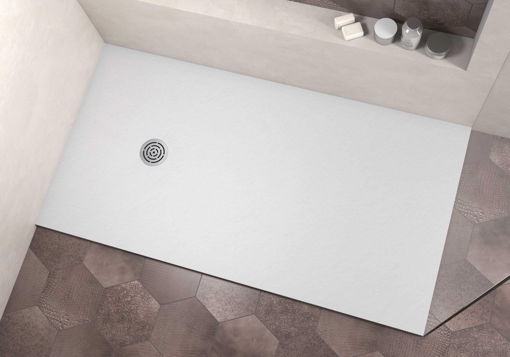 Rectangular Shower Base / Solid Surface / Flush