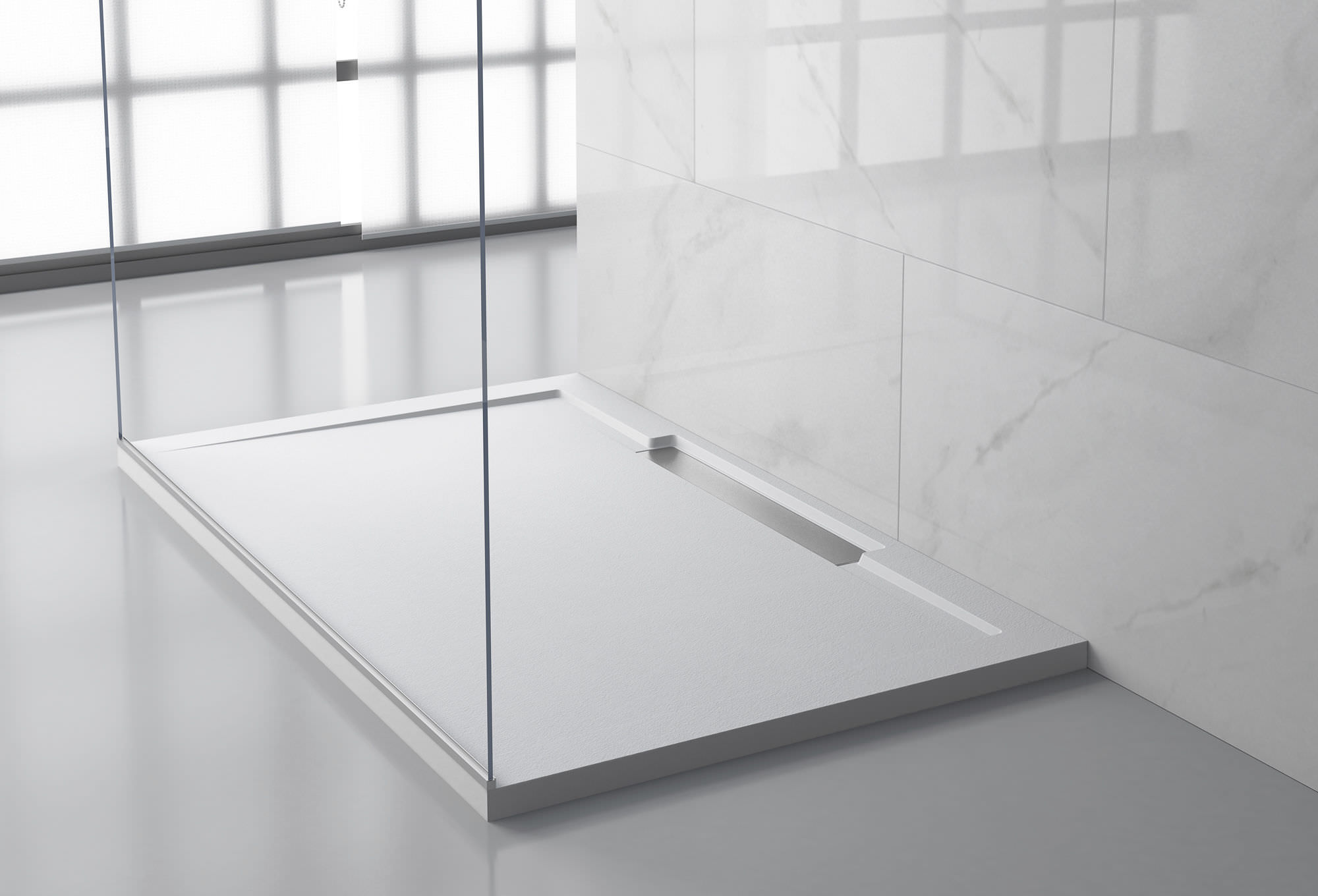 Rectangular Shower Base / Solid Surface / Flush / Custom   LINE Y