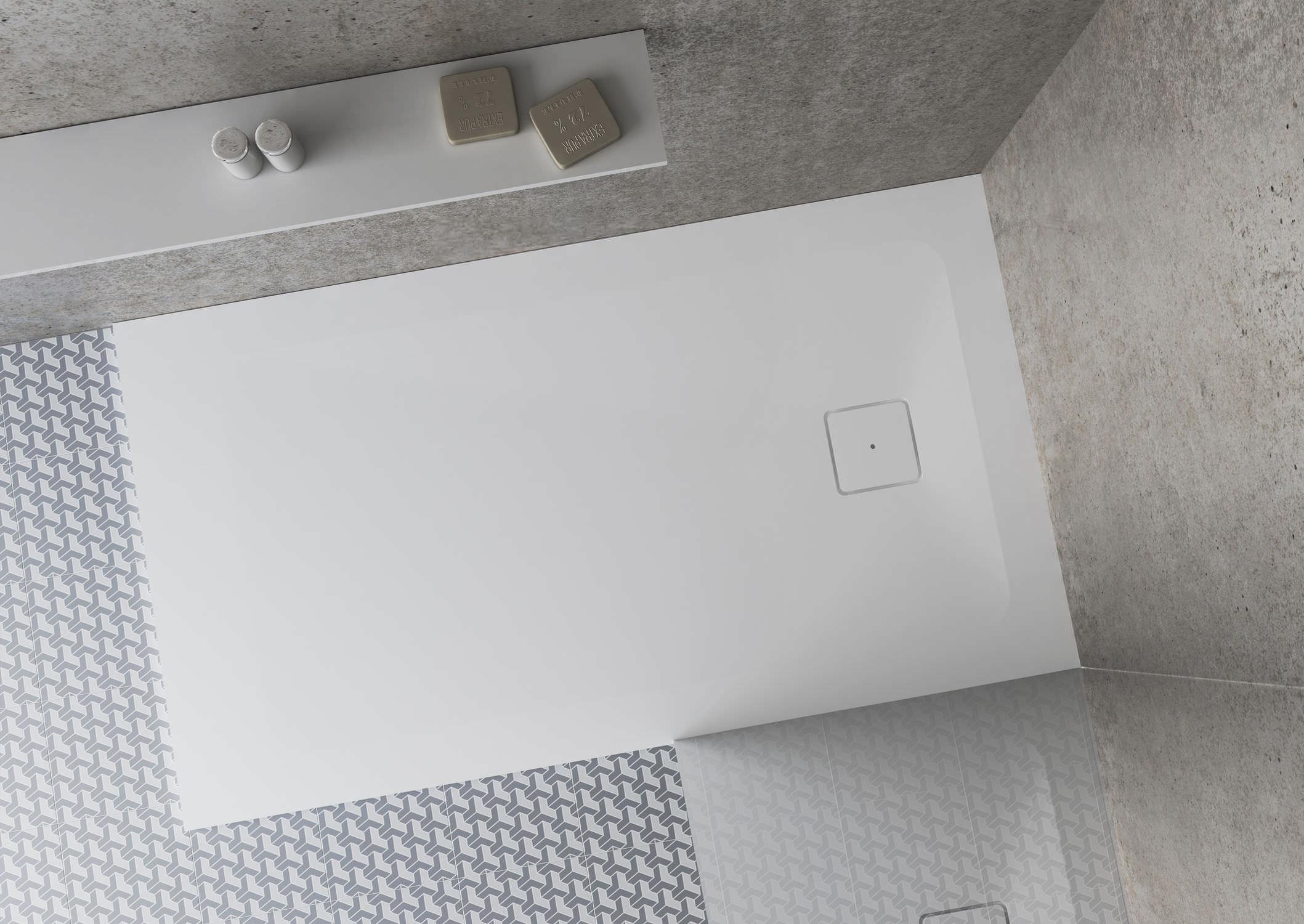 Rectangular Shower Base / Solid Surface / Flush / Custom ZONE HIDROBOX    ABSARA ...