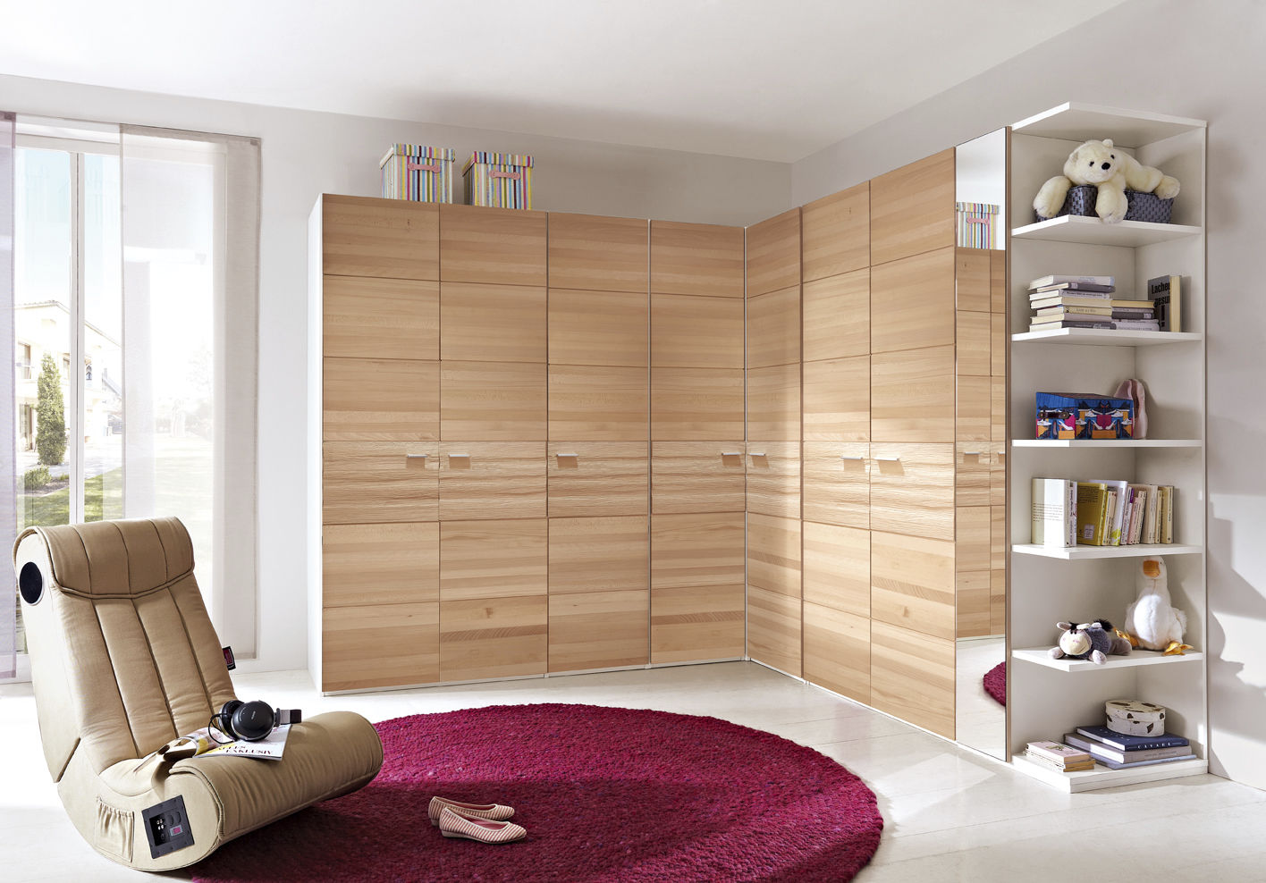 Corner Wardrobe / Contemporary / Wooden / With Swing Doors   NATIVO