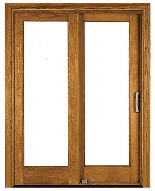 Sliding Wood Patio Doors sliding patio door / wooden / double-glazed - architect series