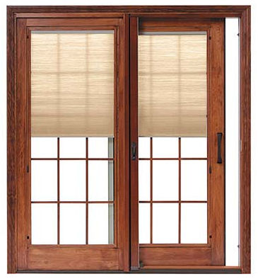 Sliding Wood Patio Doors sliding patio door / wooden / double-glazed - designer series® - pella