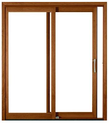 Sliding Patio Door Wooden Double Glazed Pella 450 Pella