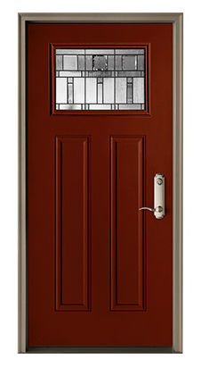 Entry Door Swing Steel Fibergl Pella Craftsman Light
