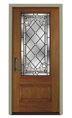 Entry Door / Swing / Steel / Fiberglass   PELLA® EUROPEAN 3/4 LIGHT