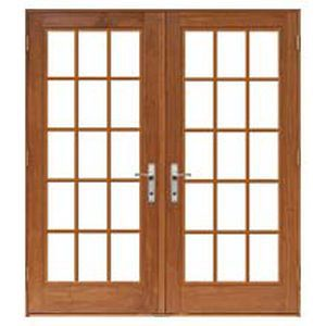 Swing French door / aluminum / wooden / double-glazed - DESIGNER ...
