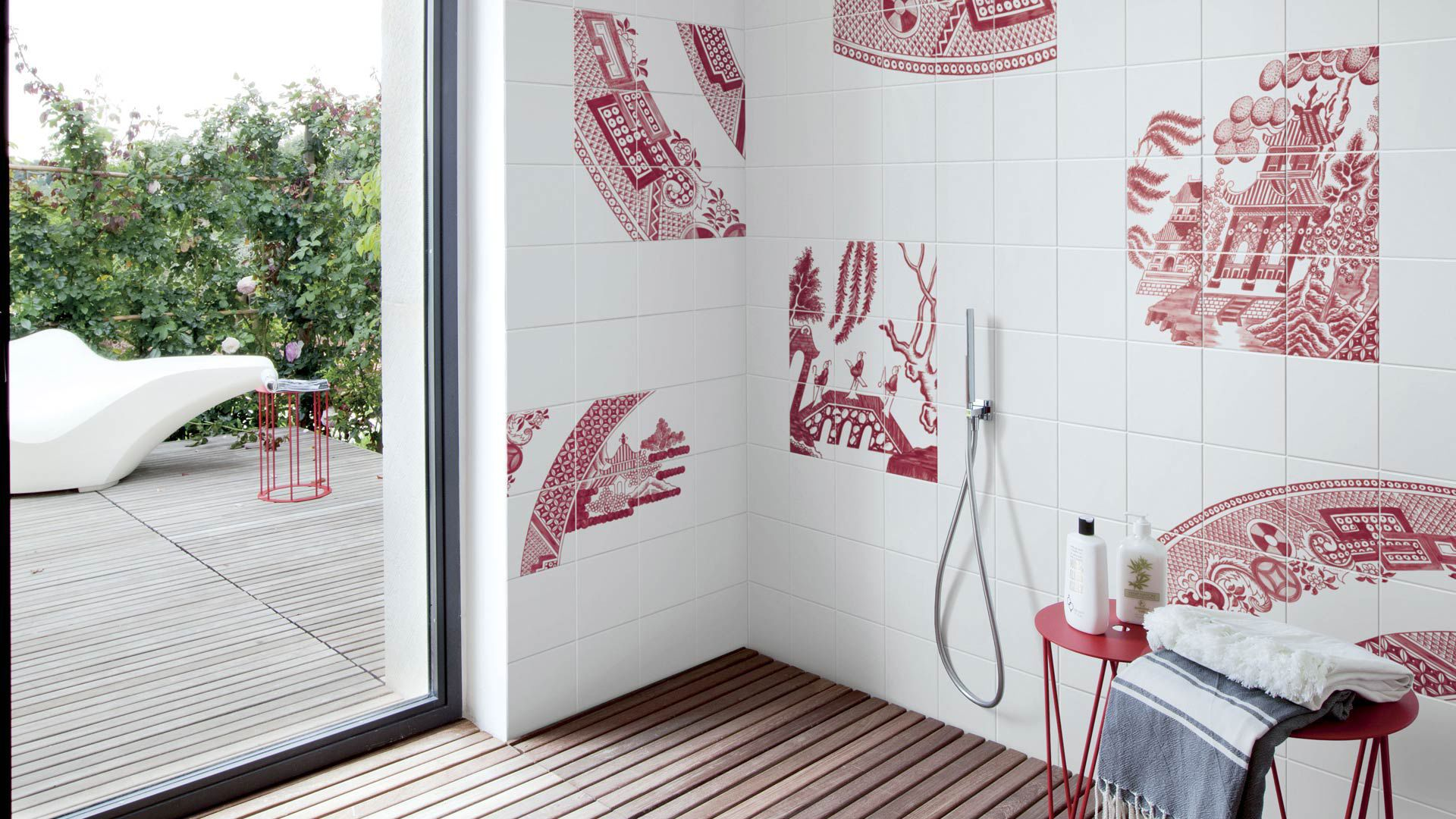 Bathroom tile / wall / ceramic / nature pattern - RUBY WILLOW by ...