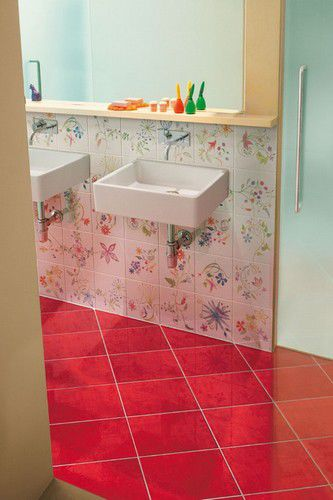 Indoor tile / bathroom / floor / porcelain stoneware - ONDE ...