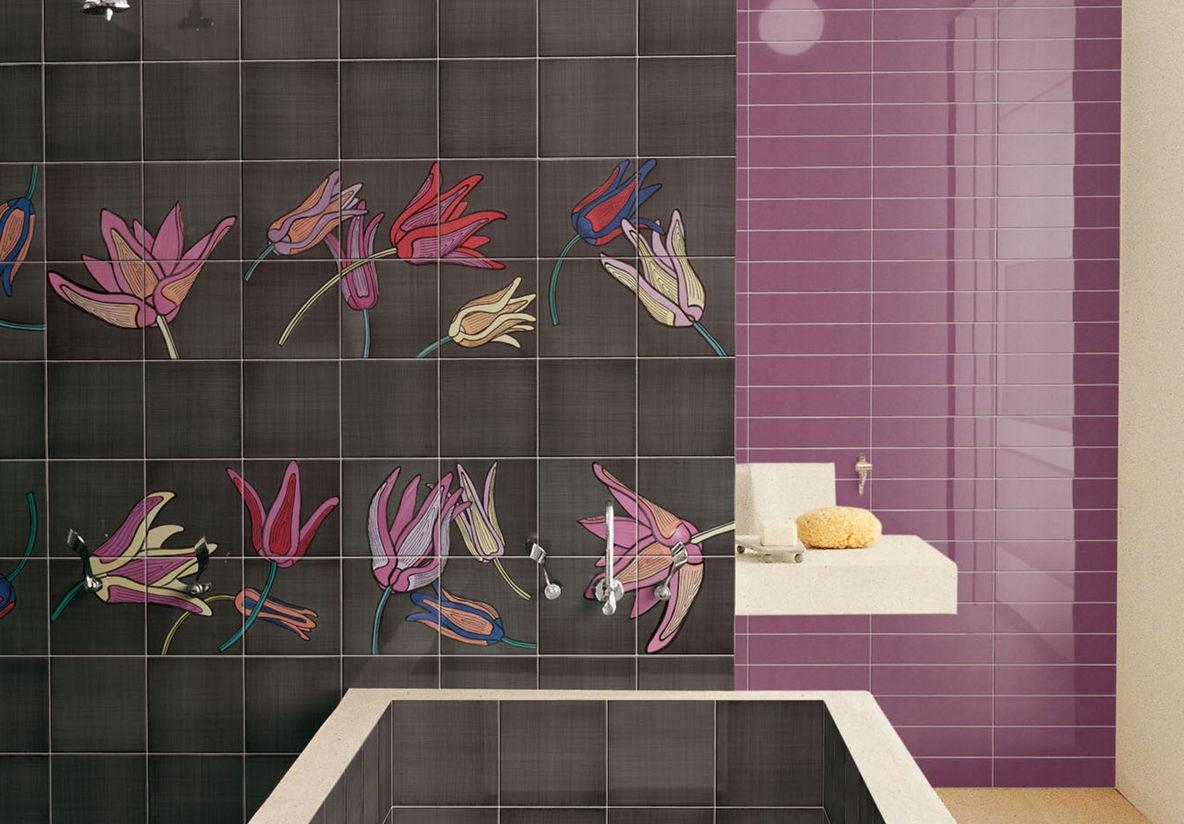 Indoor tile / bathroom / floor / ceramic - TULI-POP 2 by Ronald Van ...