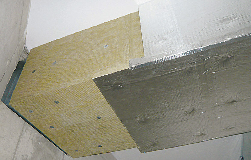 Thermal Acoustic Insulation Stone Wool Interior Air Duct