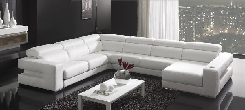 Corner Sofa Contemporary Leather 7 Seater And Up Oscar